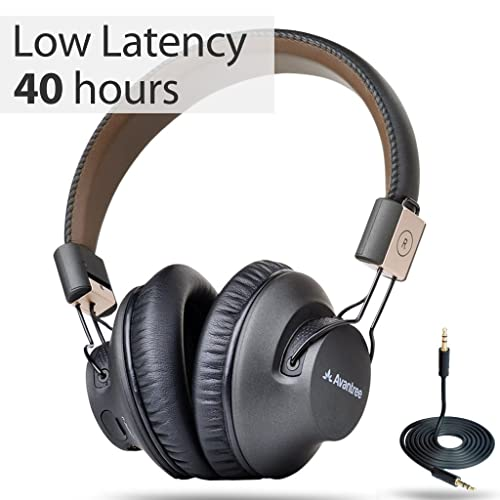 Avantree 40 hr. Wireless Bluetooth 4.1 Over-the-Ear Foldable Headphones