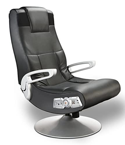 X Rocker 5127401 Pedestal Vide Gaming Chair, Wireless, Black