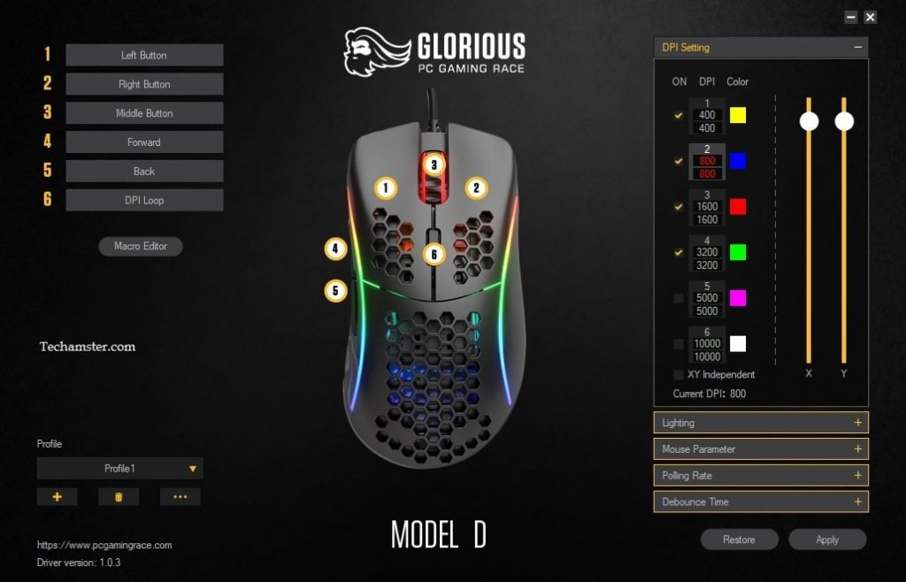 Glorious-Model-D- Work