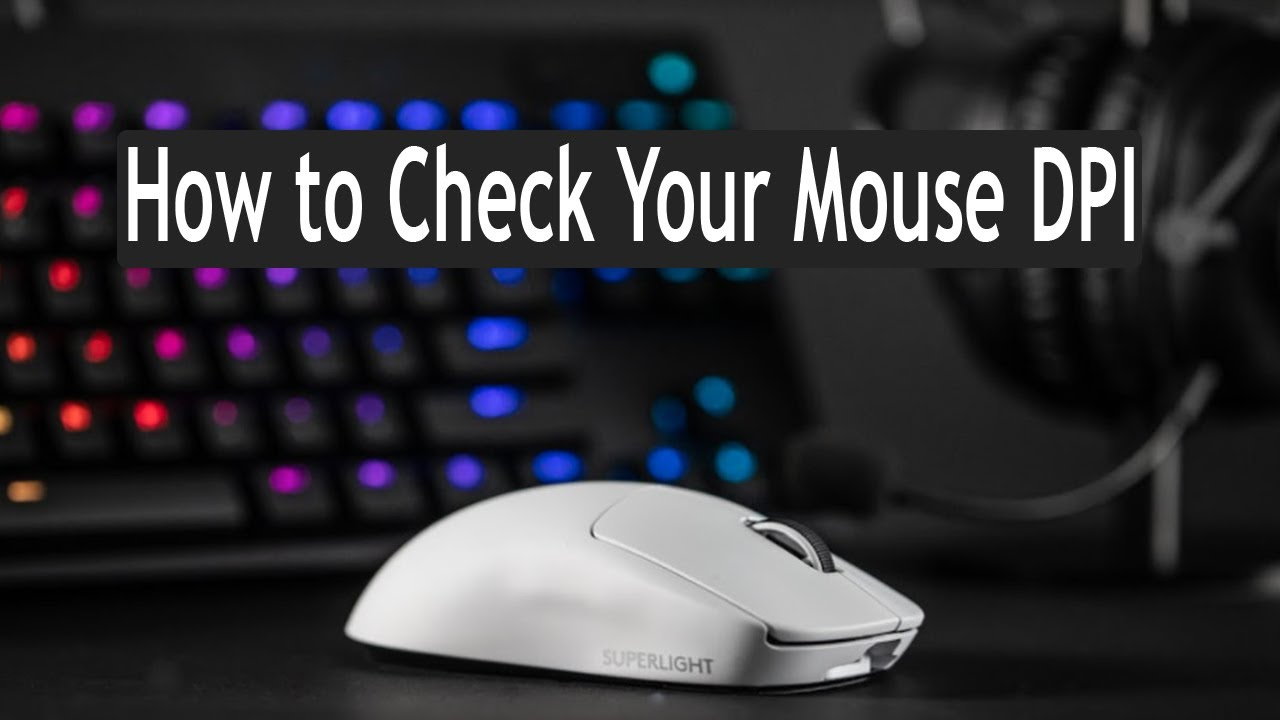 How to Chek Mouse Dpi