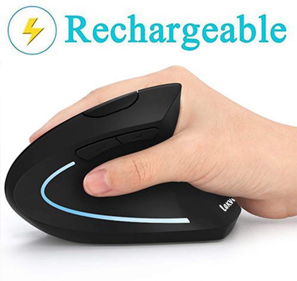 Ergonomic Mouse, LEKVEY Vertical Wireless Mouse