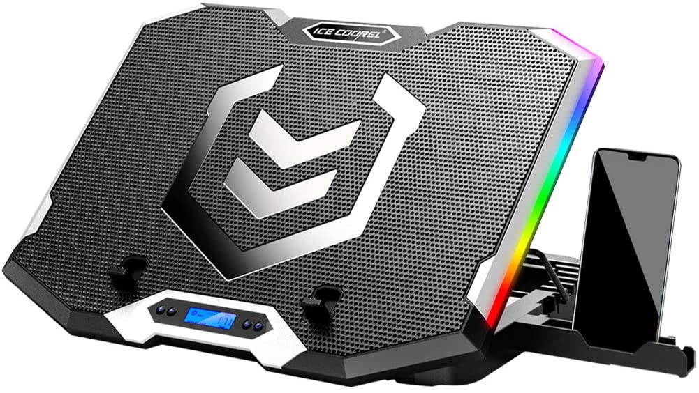 ICE COOREL RGB Laptop Cooling Pad 15.6-17.3 Inch,